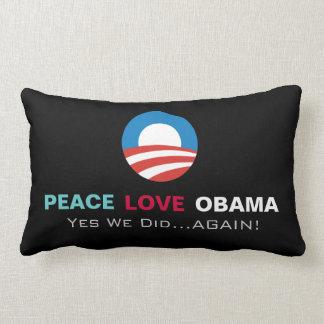FriedensLiebe Obama ja wiederholten wir Lendenkissen