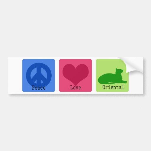 FriedensLiebe Orientale Auto Sticker
