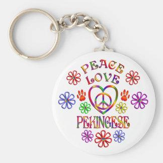 FriedensLiebe Pekingese Schlüsselanhänger