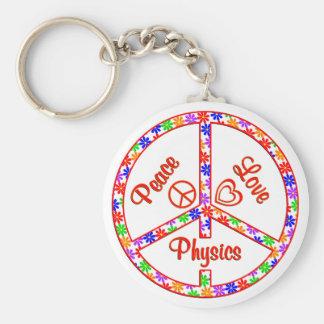 FriedensLiebe-Physik Standard Runder Schlüsselanhänger