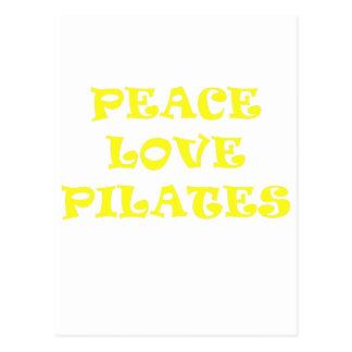 FriedensLiebe Pilates Postkarte
