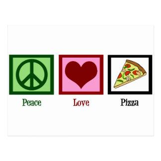 FriedensLiebe-Pizza Postkarte