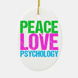FriedensLiebe-Psychologie niedlich Keramik Ornament