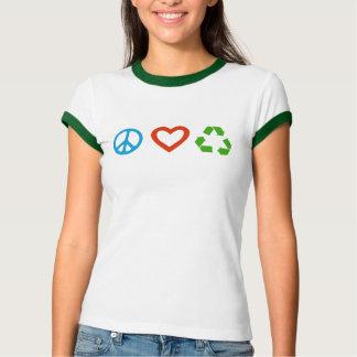 FriedensLiebe recyceln T - Shirt - viele Farben u.
