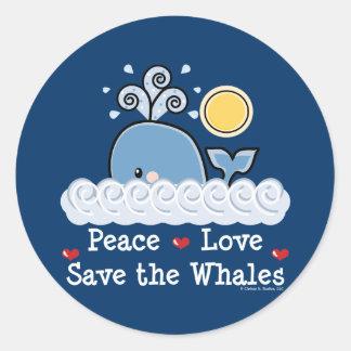 FriedensLiebe retten den Walen Aufkleber