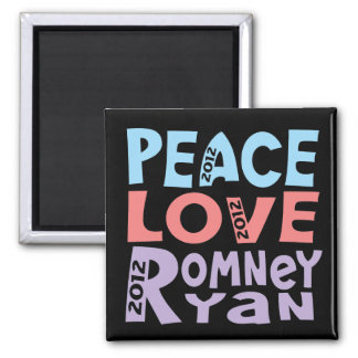 FriedensLiebe Romney Ryan Kühlschrankmagnete