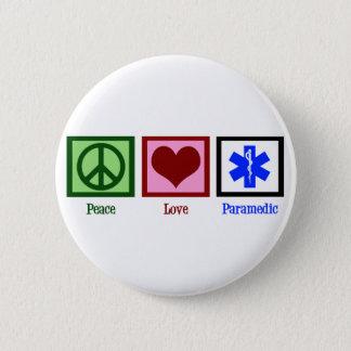 FriedensLiebe-Sanitäter Runder Button 5,1 Cm