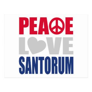 FriedensLiebe Santorum Postkarte