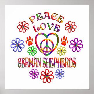 FriedensLiebe-Schäferhunde Poster