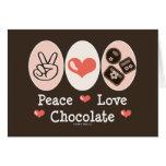 FriedensLiebe-Schokoladen-Raum-Gruß-Karte