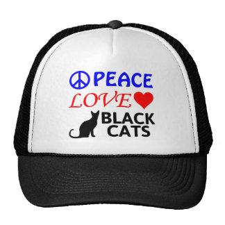 FriedensLiebe-schwarze Katzen Cap