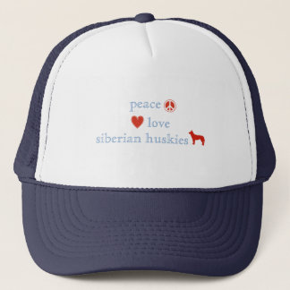 FriedensLiebe-Sibirier-Huskies Truckerkappe