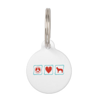 FriedensLiebe-sibirische Huskies-Quadrate Tiermarke