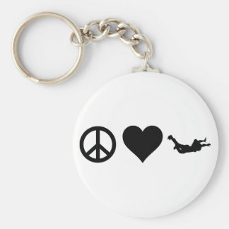 FriedensLiebe Skydiving Schlüsselanhänger