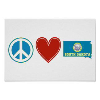 FriedensLiebe South Dakota Poster