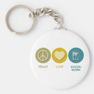 FriedensLiebe-Sozialarbeit Schlüsselanhänger