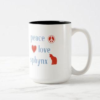 FriedensLiebe Sphynx Katzen Zweifarbige Tasse