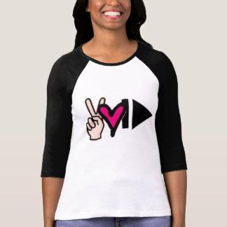 FriedensLiebe-Stoß-Spiel T-Shirt