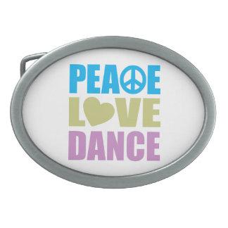 FriedensLiebe-Tanz Ovale Gürtelschnalle