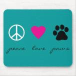 FriedensLiebe-Tatzen Mousepad
