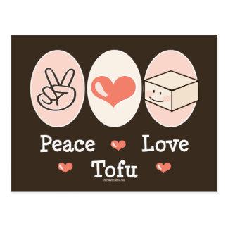 FriedensLiebe-Tofu-Postkarte Postkarte