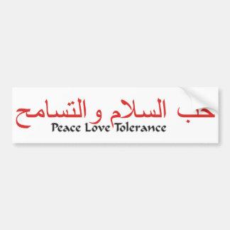 FriedensLiebe-Toleranz Autoaufkleber