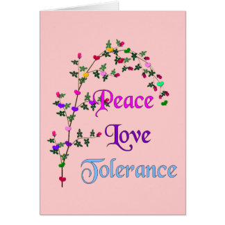 FriedensLiebe-Toleranz Karte