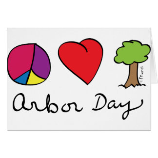 FriedensLiebe u. Bäume - Lauben-Tag Grußkarte