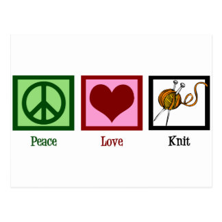 FriedensLiebe u. -c$stricken Postkarte