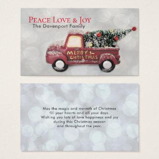 FriedensLiebe u. Freude-Spielzeug-LKW-frohe Visitenkarte