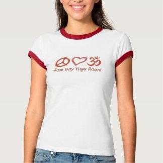 FriedensLiebe-u. -ROSEN-Bucht-Yoga T-Shirt