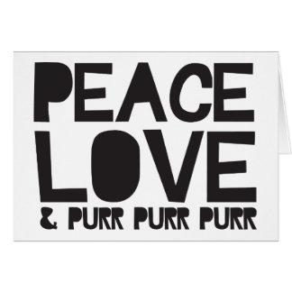 FriedensLiebe u. Schnurren-Schnurren-Schnurren Grußkarte