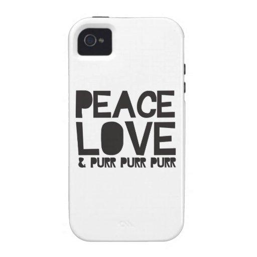 FriedensLiebe u. Schnurren-Schnurren-Schnurren Vibe iPhone 4 Case