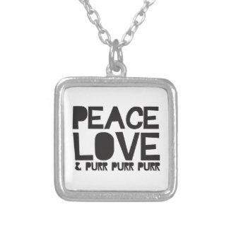 FriedensLiebe u. Schnurren-Schnurren-Schnurren Selbst Gestaltete Halskette