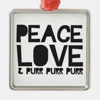 FriedensLiebe u. Schnurren-Schnurren-Schnurren Weihnachtsornament