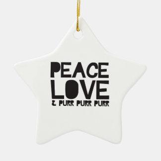 FriedensLiebe u Schnurren-Schnurren-Schnurren Ornament