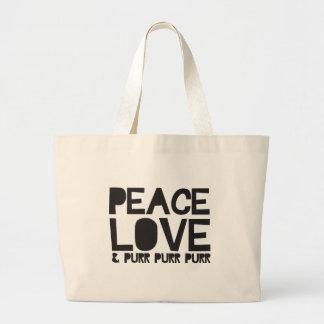 FriedensLiebe u Schnurren-Schnurren-Schnurren Einkaufstaschen