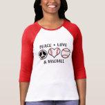 FriedensLiebe und -baseball Hemd