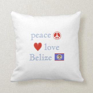 FriedensLiebe und -belize Kissen