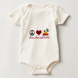 FriedensLiebe und destin Baby Strampler