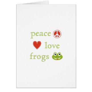 FriedensLiebe und Frosch-Anmerkung Karte