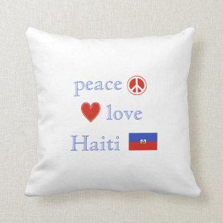 FriedensLiebe und -haiti Kissen