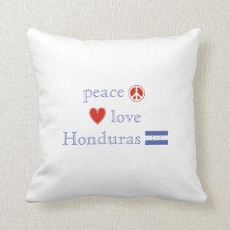 FriedensLiebe und -honduras Kissen