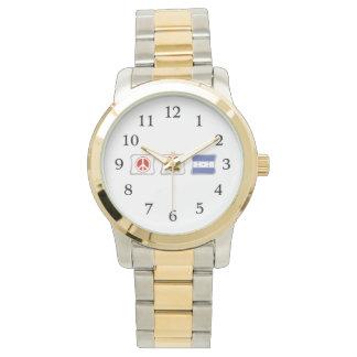 FriedensLiebe und Honduras-Quadrate Armbanduhr