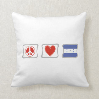 FriedensLiebe und Honduras-Quadrate Kissen