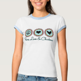 FriedensLiebe und -hühner Shirts