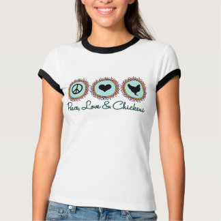 FriedensLiebe und -hühner T-Shirt
