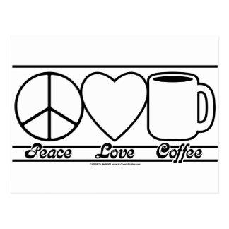 FriedensLiebe und -kaffee Postkarte