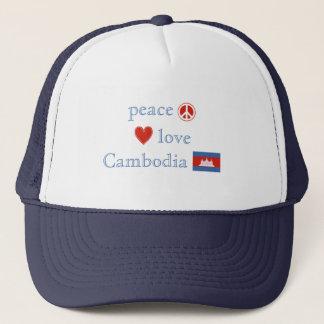 FriedensLiebe und -kambodscha Truckerkappe