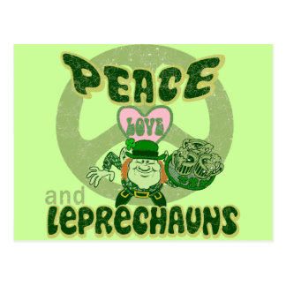 FriedensLiebe und -kobolde Postkarte